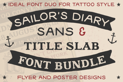Sailors Diary Font Bundle