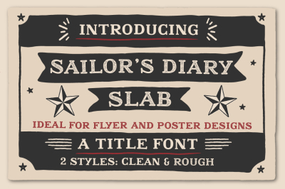 Sailors Diary Title Slab