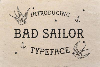 Bad Sailor Typeface