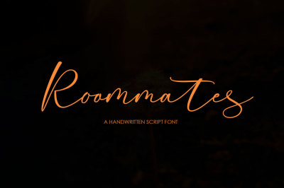 Roommates Script (Reguler & Slant)