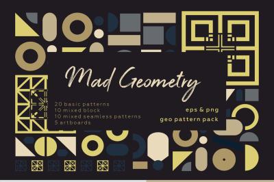 Mad Geometry. Geometric pattern set.