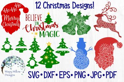 Christmas Bundle SVG/DXF/EPS/PNG/JPG/PDF