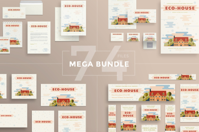 Design templates bundle | flyer, banner, branding | Eco House