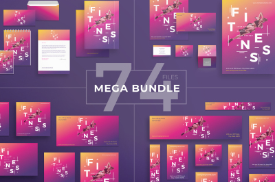 Design templates bundle | flyer, banner, branding | Fitness Gym