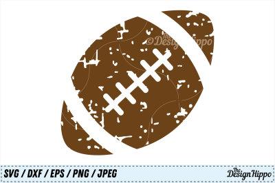 Football Grunge SVG, Football SVG Designs, Distressed, PNG, Cut Files
