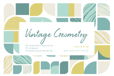 Vintage geometry patterns collection.
