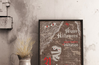 Halloween vintage party templates