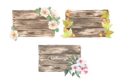 Wooden sign. Collection