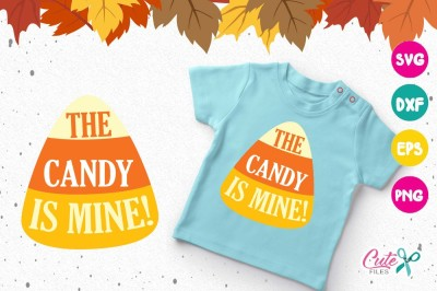 The candy is mine! Halloween, svg cutting files