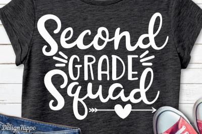 Second Grade Squad, 2nd Grade Teacher, Crew Team SVG PNG DXF, Cut File