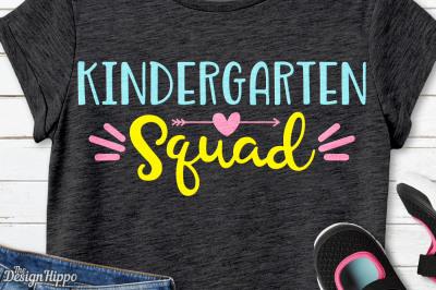 Kindergarten Squad, Kindergarten Teacher, Crew, Team SVG PNG, Cut File