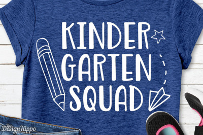 Kindergarten Squad, Teacher, Kids Back to School SVG PNG DXF, Cut File