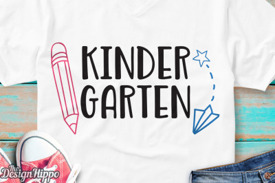 Kindergarten Teacher, Girls, Boys Back to School SVG PNG DXF, Cut File