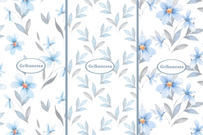 Delicat floral patterns