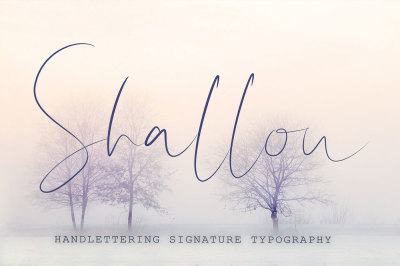 Shallou - Hand Lettering Font, Modern Calligraphy,