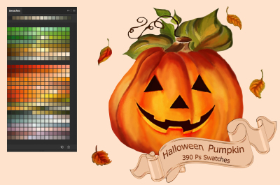 Halloween Pumpkin Swatches