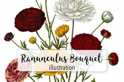 Flowers: Ranunculus Bouquet