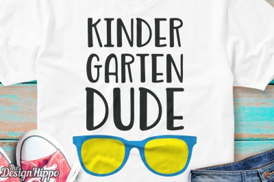 Kindergarten Dude, Boys, Teacher, Back to School SVG PNG DXF Cut Files