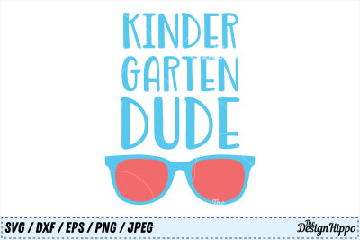 Kindergarten Dude SVG, Kindergarten PNG, School DXF Cut File