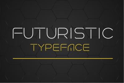 Futuristic linear style font