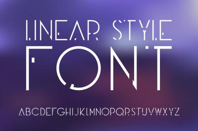 Linear OTF font. Futuristic style