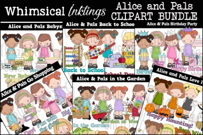 Alice and Pals Clipart Bundle