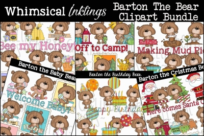 Barton The Bear Clipart Bundle