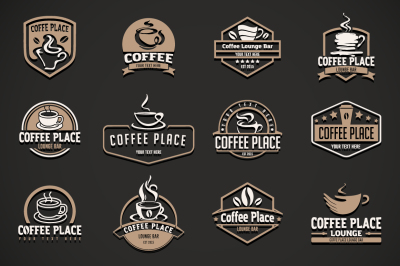 12 coffee logo templates.
