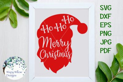 Download Merry Christmas Santa, Ho Ho Ho, SVG/DXF/EPS/PNG/JPG/PDF SVG Cut Files