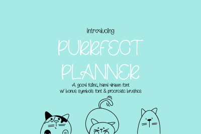 Purrfect Planner Font