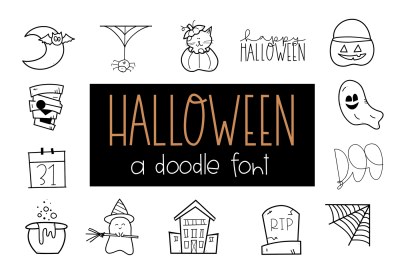 Halloween Doodles Font