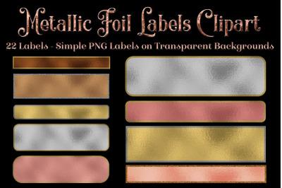 Metallic Foil Labels Clipart