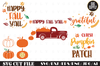 Thanksgiving Set Cut File