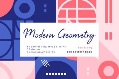 Modern geometric pattern set.