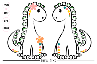 Dinosaur SVG / DXF / EPS / PNG files