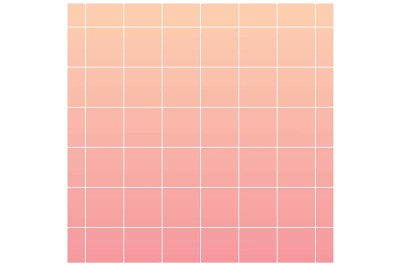 Pink gradient background with white grid
