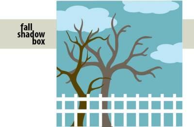 Fall Shadow Box SVG