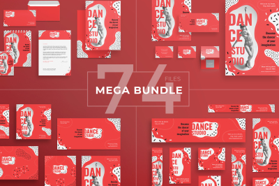 Design templates bundle | flyer, banner, branding | Dance Studio