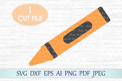 Crayon SVG, Crayon cut file, Crayon clipart, Crayon PNG, PDF, JPEG