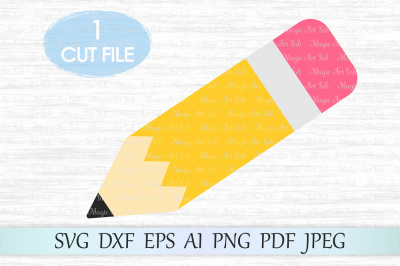 Pencil SVG, Back to school SVG, Teacher SVG, School cut file, Clipart