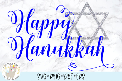 Happy Hanukkah SVG Cut File