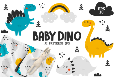 Baby Dinosaurs - Cute Characters