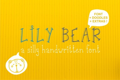 Lily Bear font + Funny doodles
