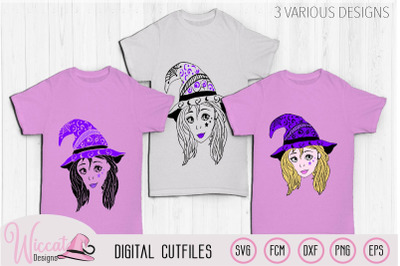 Witch svg, doodle svg, Cute Witch svg, teen witch, girls svg,