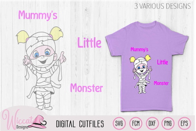 Mummie svg, Little monster svg, mummy svg, Halloween svg, kids svg