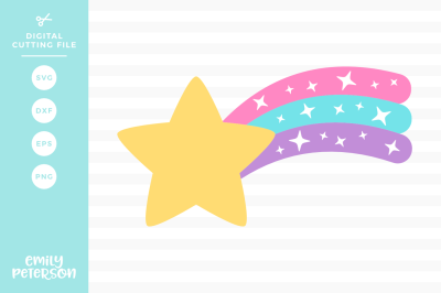 Shooting Star SVG DXF