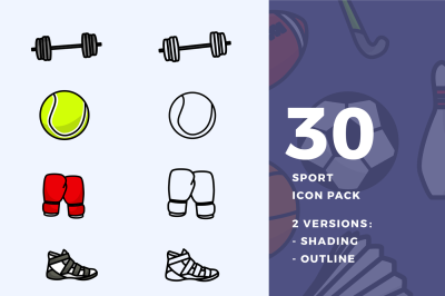 30 Sport Icons Pack