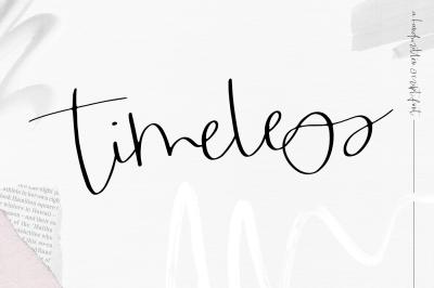 Timeless - Handwritten Script Font
