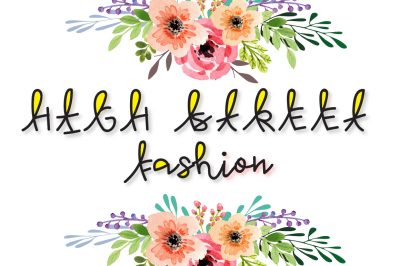 High Street Fashion - multicolor font