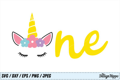 Unicorn SVG, Birthday SVG, One PNG, 1st Birthday SVG, DXF, Cut Files